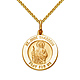 St Jude Thaddeus Petite Medal Necklace with Spiga Chain - 14K Yellow Gold 16-22in thumb 0
