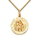 Small St. Christopher Medal Necklace with Braided Wheat Chain - 14K Yellow Gold (16-22in) thumb 0