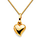 Mini Whimsical Heart Charm Necklace with Box Chain - 14K Yellow Gold (16-22in) thumb 0