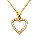 CZ Mini Open Heart Charm Necklace with Box Chain - 14K Yellow Gold 16-22in thumb 0