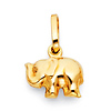 Junior Elephant Charm Pendant in 14K Yellow Gold - Mini