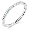 2mm Round-Cut Cubic Zirconia CZ Wedding Band in 14K White Gold