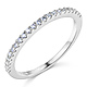 1.5mm Half Eternity Round-Cut Cubic Zirconia Wedding Band in 14K White Gold thumb 0