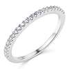 1.5mm Half Eternity Round-Cut Cubic Zirconia Wedding Band in 14K White Gold