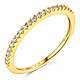 20-Stone Half Eternity Round-Cut CZ Wedding Band in 14K Yellow Gold thumb 0