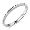 1.5mm Knife-Edge Wedding Band in 14K White Gold