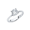 Round-Cut Basket-Set 1.25-CT CZ Engagement Ring in 14K White Gold