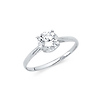 1-CT 4-Prong Solitaire Basket-Set Round-Cut CZ Wedding Ring in 14K White Gold