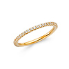 2mm Round-Cut Cubic Zirconia CZ Wedding Band in 14K Yellow Gold