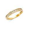2mm 11-Stone Princess-Cut Channel Setting CZ Wedding Band in 14K Yellow Gold