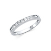 2mm 11-Stone Princess-Cut Channel Setting CZ Wedding Band  in 14K White Gold