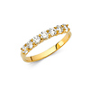 2mm 7-Stone CZ Wedding Band in 14K Yellow Gold