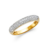 3mm Dome Pave Two-Tone Wedding Band in 14K Yellow Gold