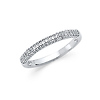 2.5mm Pave Dome Wedding Band in 14K White Gold