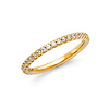 2mm 25-Stone Scallop Round-Cut CZ Wedding Band in 14K Yellow Gold