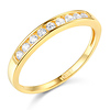 9-Stone Round-Cut Channel-Set Wedding Band in 14K Yellow Gold