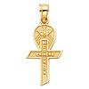 My First Communion Spanish Text Petite Cross Pendant in 14K Yellow Gold