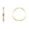 14K Yellow Gold Round Pave CZ Mini Hoop Earrings 2mm x 0.8 inch
