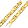 8mm Men's 14K Yellow Gold Flat Nugget Link Bracelet 7.5in