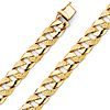 Men's 11mm 14K Yellow Gold Nugget Curb Cuban Link Chain Bracelet 8.5in