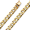 9mm Men's 14K Yellow Gold Oval Carved Curb Cuban Link Chain Bracelet 8.5in