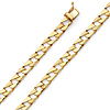 6mm Men's 14K Yellow Gold Carved Square Curb Cuban Link Chain Bracelet 8in