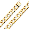 Men's 11mm 14K Yellow Gold Square Curb Cuban Link Chain Bracelet 8.5in