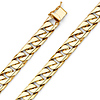 9mm Men's 14K Yellow Gold Oval Miami Cuban Link Chain Bracelet 8.5in