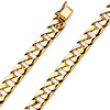 8mm Men's 14K Yellow Gold Oval Miami Cuban Link Chain Bracelet 8.5in