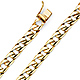 8mm Men's 14K Yellow Gold Oval Curb Cuban Link Chain Bracelet 8in thumb 0
