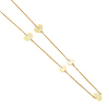 14K Yellow Gold 7mm Floating Heart Charms Necklace - 20in