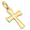 14K Yellow Gold Cross Religious Pendant