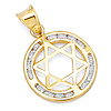 Encircled CZ Star of David Pendant in 14K Yellow Gold