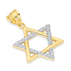 Cubic Zirconia CZ Star of David Pendant in 14K Yellow Gold