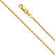 1.1mm 14K Yellow Gold Diamond-Cut Round Spiga Chain Necklace 16-22in thumb 0