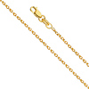 1.1mm 14K Yellow Gold Diamond-Cut Round Spiga Chain Necklace 16-22in