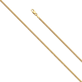 2mm 14K Yellow Gold Miami Cuban Link Chain Necklace 16-24in
