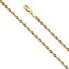2.5mm 14K Yellow Gold French Hollow Rope Chain Necklace 16-24in