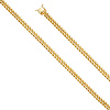 5.7mm 14k Yellow Gold Hollow Miami Cuban Chain Necklace 20-26in