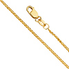 1.5mm 14K Yellow Gold Diamond-Cut Round Wheat Chain Necklace 16-24in
