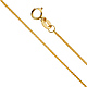 0.8mm 14K Yellow Gold Diamond-Cut Round Wheat Chain Necklace 16-24in thumb 0