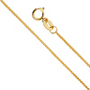 0.8mm 14K Yellow Gold Diamond-Cut Round Wheat Chain Necklace 16-24in