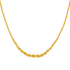 14K Yellow Gold 5mm Graduated Hollow Rope Chain Necklace - 18'
