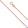 1mm 14K Rose Gold Singapore Chain Necklace