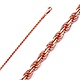 3mm 14K Rose Gold Diamond-Cut Gold Rope Chain Necklace 20-26in thumb 0
