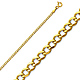 2mm 14K Yellow Gold Concave Curb Cuban Link Chain Necklace 16-24in thumb 0