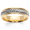 5.5mm 14K Two Tone Gold Braided Wedding Band