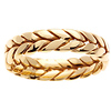 6mm Handmade Wheat Braided Wedding Band - 14K Yellow Gold