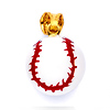 Enamel Baseball Charm Pendant in 14K Yellow Gold