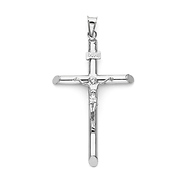 Crucifix pendants gold silver for men women goldenmine extra large rod crucifix pendant in 14k white gold classic aloadofball Image collections